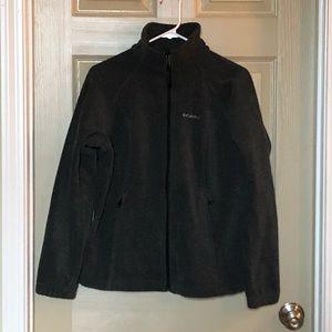 Gray Columbia zip up fleece jacket.